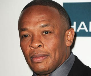 Dr. Dre arrives at a pre-Grammy event at the Beverly Hilton Hotel Feb. 11, 2012, in Beverly Hills, Calif.Kevin Winter/Getty Images