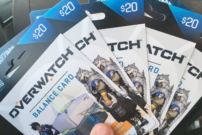 Illustration for article titled I Just Got A Bunch Of Overwatch Gift Cards, And I'm Terrified To Use Them