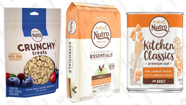 Amazon's Blowing Out Nutro Pet Food and Treats, Today Only