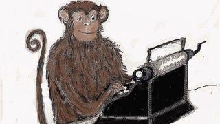 "Illustration for article titled Virtual ""monkeys on typewriters"" recreate ninety-nine percent of Shakespeare"