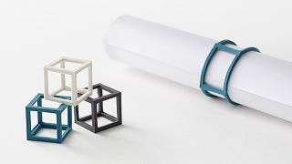 Illustration for article titled Elastic Cubes Take Rubber Bands Into the Third Dimension