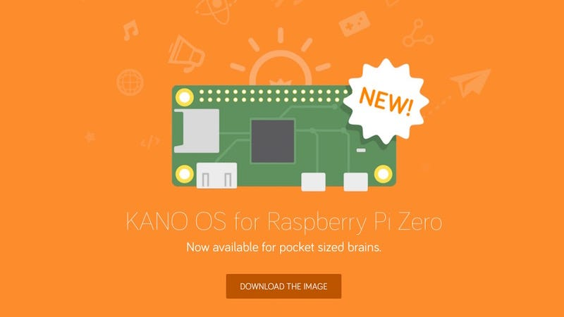 Illustration for article titled Kano's Educational Operating System Now Works on the Raspberry Pi Zero