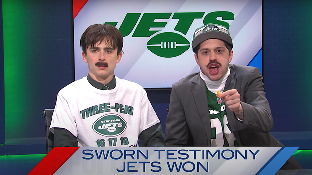 Fear not, Trump and Jets fans—SNL's Newsmax sports show says you're all winners!