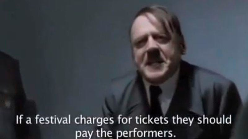 Illustration for article titled Hitler angrily rejects an invitation to perform at SXSW