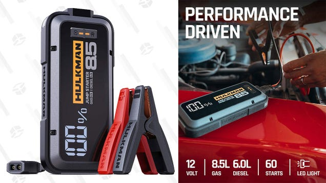 Power up Your Ride With 45% off a Hulkman 20,000mAh Jump Starter