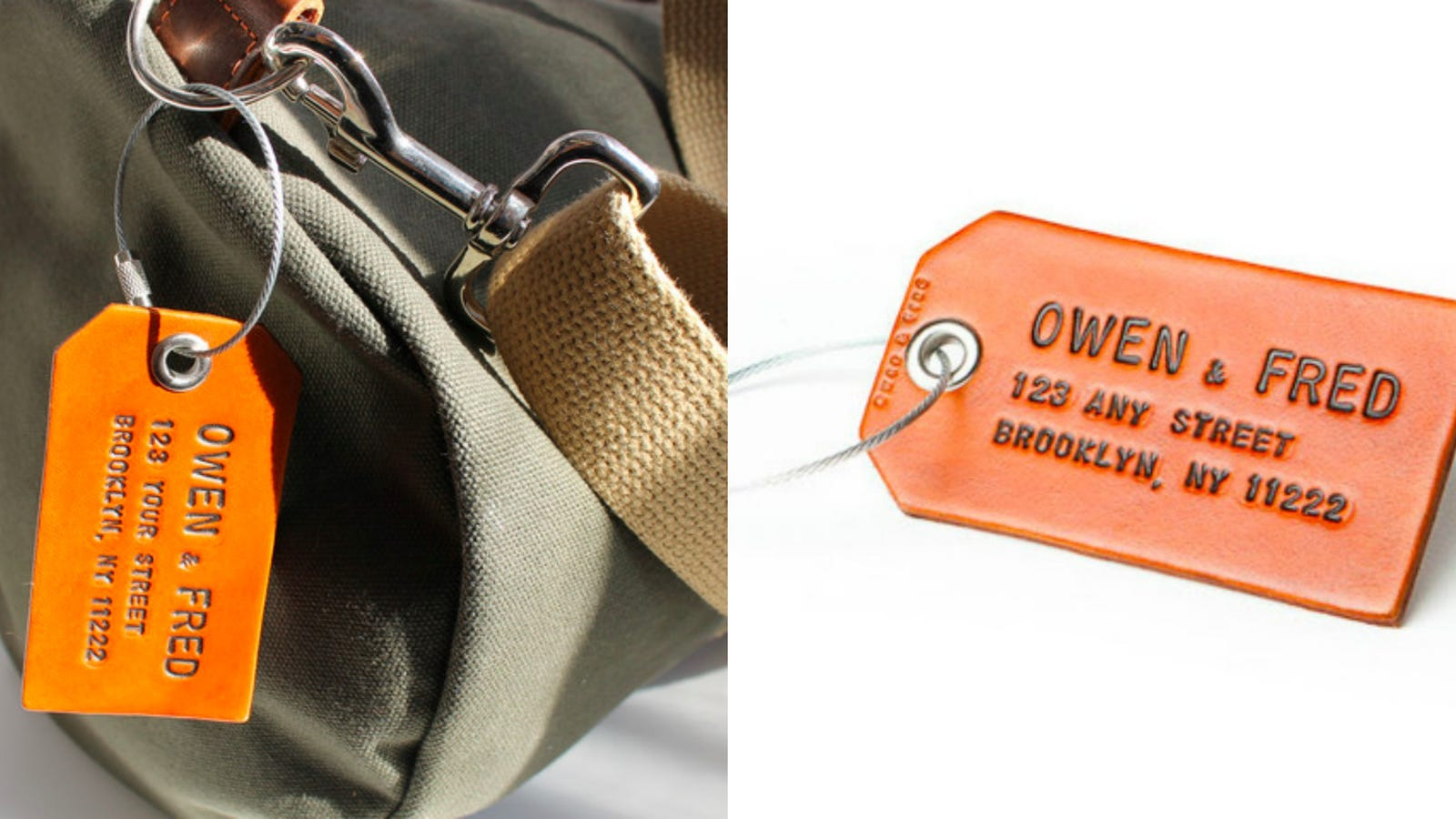 Save 15 On A Us Made Custom Leather Luggage Tag 38 Pikachu