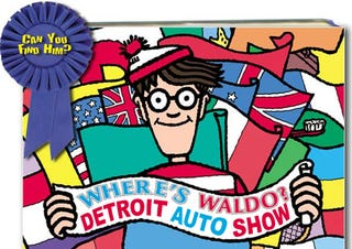 Illustration for article titled Where's Waldo: Win A Bag Of Detroit Auto Show Swag