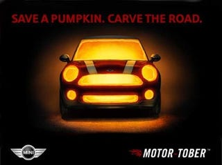 """Illustration for article titled """"Motor-Tober"""" Campaign Hopes To Scare Up Mini Sales"""