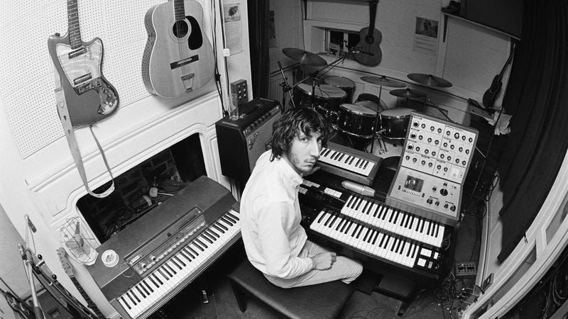 The Who's Pete Townshend in 1970 with his synthesizers (Photo: Chris Morphet/Getty Images)