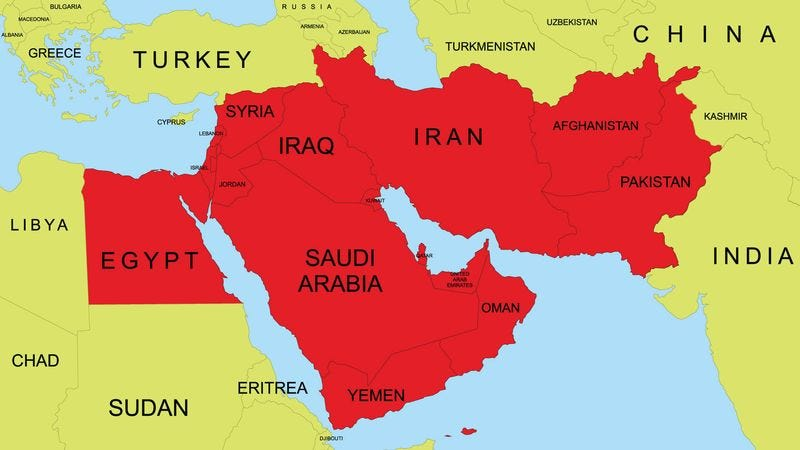 Illustration for article titled Report: Middle East Quickly Running Out Of Land Area For Violence To Spill Over To