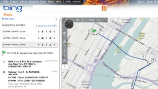 Illustration for article titled Bing Maps Adds Transit Directions for 11 Cities, More to Come