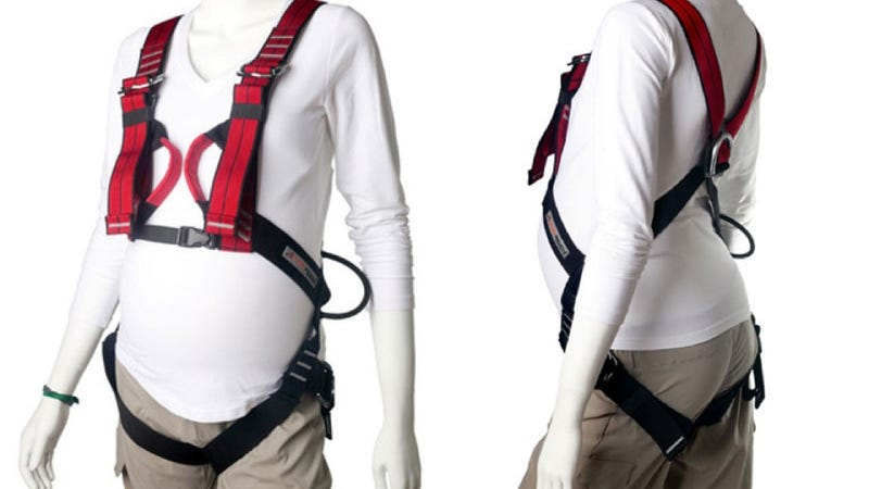Illustration for article titled Here's a Full-Body Rock Climbing Harness For Pregnant Women Because Apparently That's a Good Idea