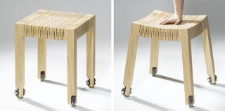 Illustration for article titled It's a Chair, It's Made From Wood and It's Flexible?