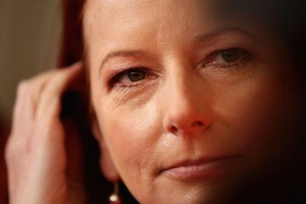 Illustration for article titled Australia's Female Prime Minister Insists On Living In Sin, 4:30am Blow Dries
