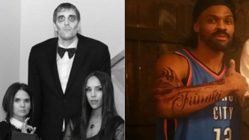 Illustration for article titled Russell Westbrook And Dirk Nowitzki Are Very Good At Halloween