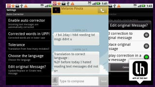 SMS Corrector for Android Translates Text Talk Into Messages