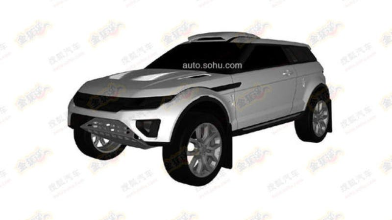 Illustration for article titled Chinese Patent For Range Rover Evoque Rally Rig Found