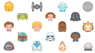 Illustration for article titled How Star Wars' Heart-Cloggingly Cute Emojis Took Over The Internet