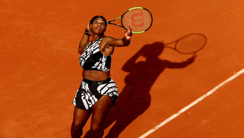 Illustration for article titled Serena Williams Casually One-Ups Catsuit-Hating French Open With Even Hotter Outfit