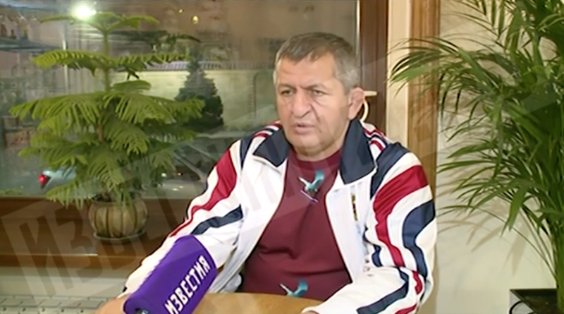 """Illustration for article titled Khabib Nurmagomedov's Dad On His Son Fighting In The Stands: """"I Am Going To Regard This Severely"""""""