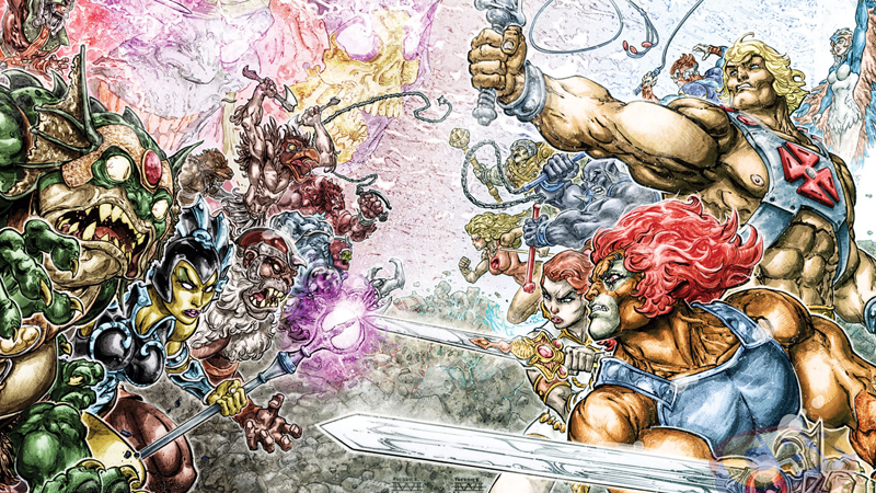 Illustration for article titled DC Comics Smashes Its Toys Together for a He-Man/Thundercats Team-up Series