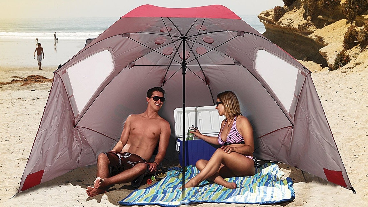 & Bring Your Own Shade to the Beach With Sport-Brella