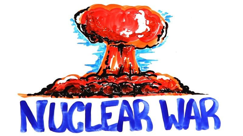 Illustration for article titled This adorable cartoon explains exactly how we'll die in a nuclear war