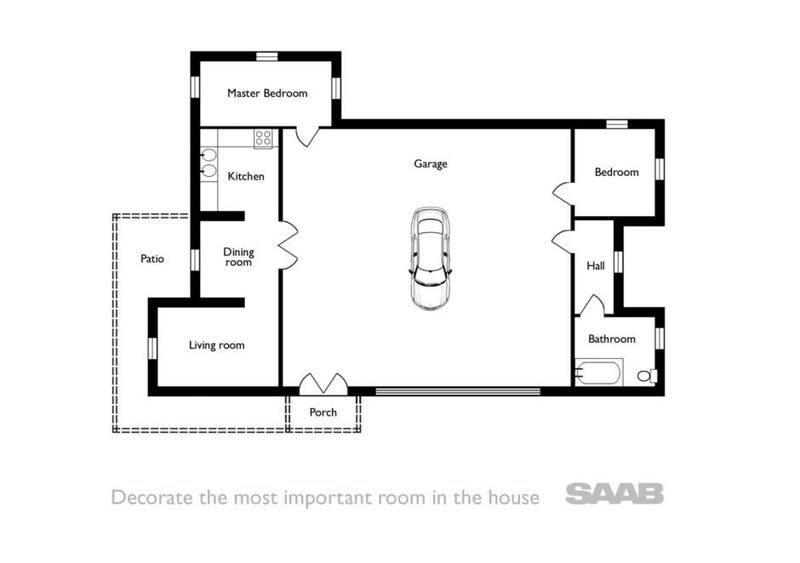 Illustration for article titled the best floor plan - by Saab