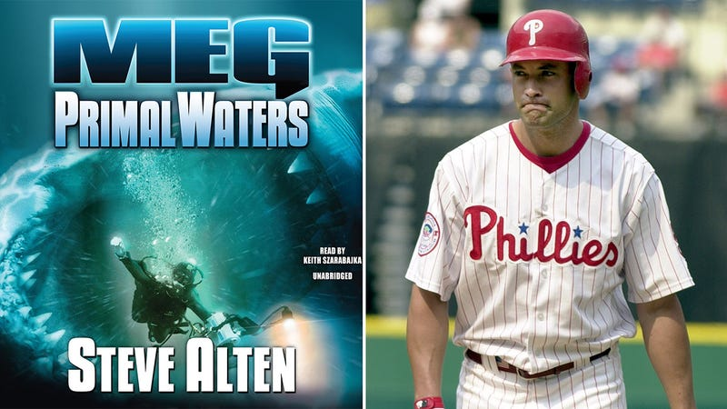 Illustration for article titled How Pat Burrell Set The Home-Run Record... In A Sci-Fi Novel About Killer Prehistoric Sharks