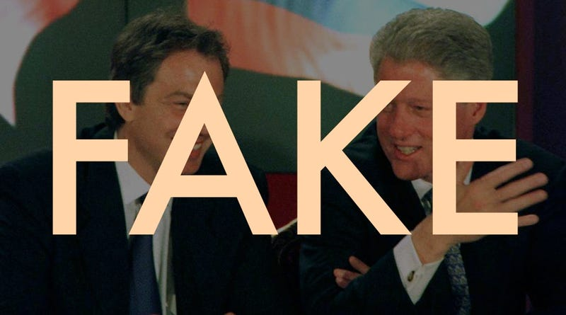 Illustration for article titled Most of Those Viral Clinton-Blair Conversations Are Fake