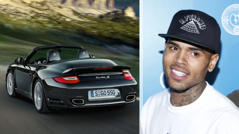 Illustration for article titled Chris Brown Totals His Porsche While Running From Paparazzi