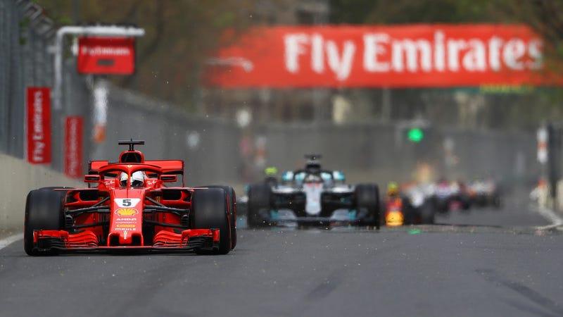 Sebastian Vettel at the Azerbaijan Grand Prix.