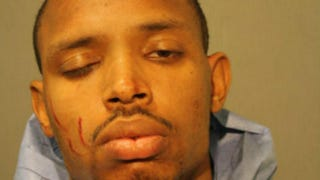 Andre Brown was arrested and charged in the fatal stabbing of his mother after she allegedly put him down and told him to find a girlfriend.Chicago Police Department handout