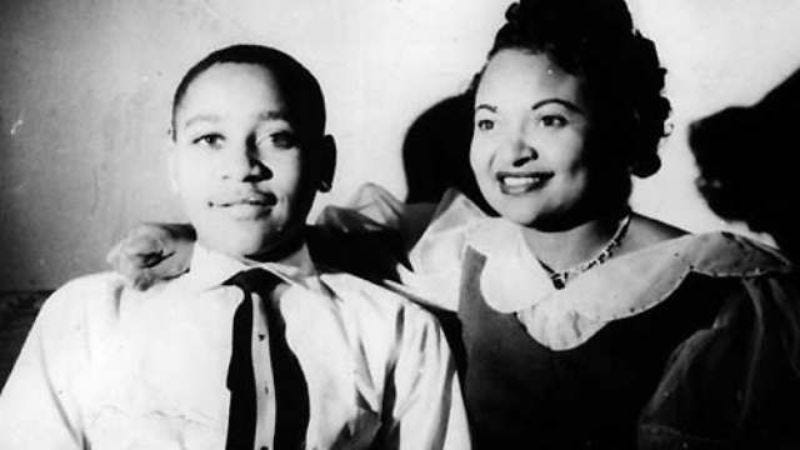 Emmett Till and his mother, Mamie Till-Mobley