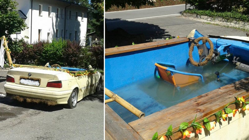 Illustration for article titled Awesome BMW With Pool Inside Seized By Fun-Hating German Cops