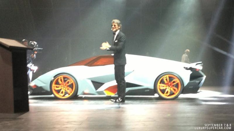 Illustration for article titled Crazy New Lamborghini Egoista Concept Debuts In Italy (Updated)