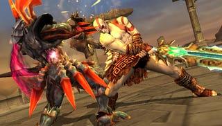 Illustration for article titled Soulcalibur: Broken Destiny's Kratos Is More God of War II Than III