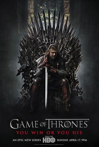 Illustration for article titled Game of Thrones poster
