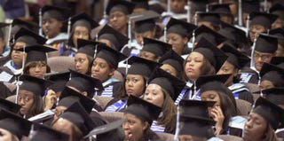 Members of the graduating class of 2002 at Spelman College (Erik S. Lesser/Getty Images)