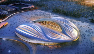 Illustration for article titled The Grim Secret Behind Qatar's Lavish New Stadiums: Human Rights Abuse