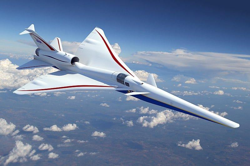 Illustration for article titled El diseño del nuevo avión supersónico de la NASA es tan radical que ni siquiera tiene ventana frontal para los pilotos