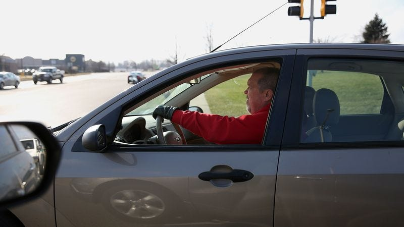 Car Rolls Up To Stoplight Blasting Google Maps Directions on