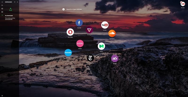 Illustration for article titled El nuevo navegador de Opera no tiene pestañas ni barra superior, pero deberías probarlo