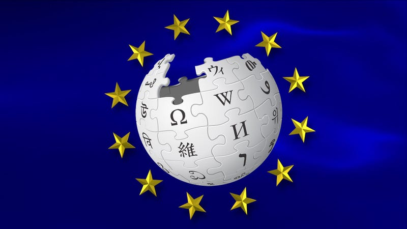 Illustration for article titled Wikipedia Italy Blocks All Articles in Protest of EU's Ruinous Copyright Proposals