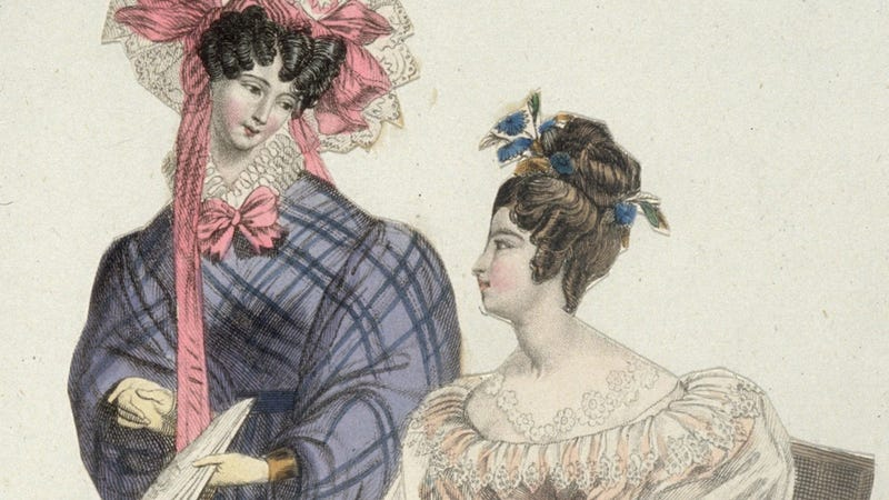 Illustration for article titled What Are Historical Broads Always Talking About in Fashion Plates?