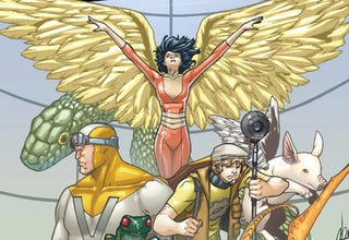 "Illustration for article titled Digital superstars of a world without privacy, in Greg Pak's ""Vision Machine"""