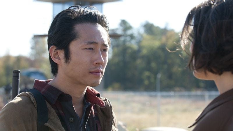 Illustration for article titled Steven Yeun is okay with being fans' 2nd favorite Walking Dead character