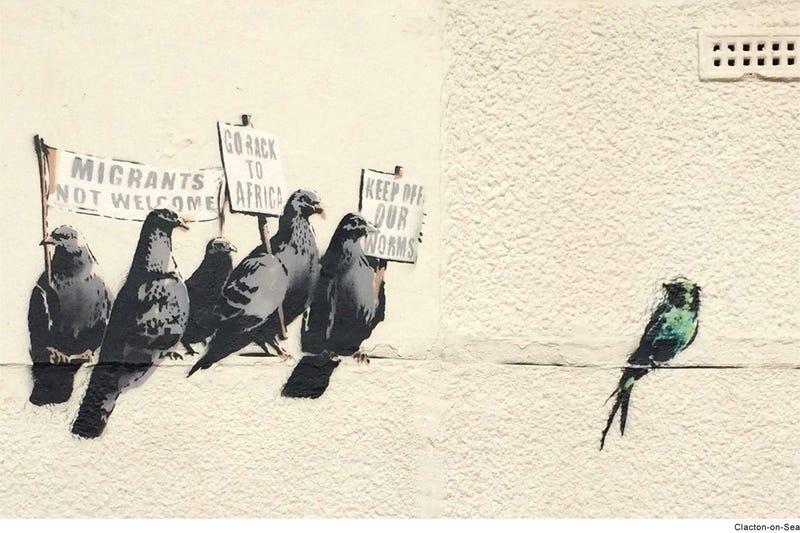 Illustration for article titled Rasszizmus miatt távolítottak el egy új Banksy-festményt