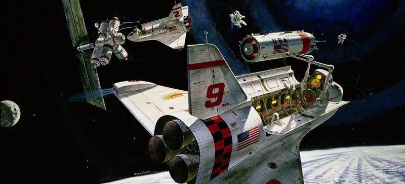 Amazing Painting Of Space Shuttle By Artist Attila Hejja