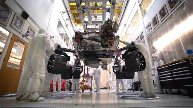 Major Milestone Reached as NASA's Mars 2020 Rover Stands on All Six Wheels